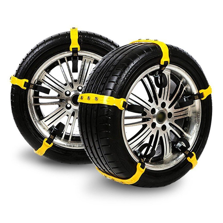 メイキンサワ タイヤチェーン 非金属通用タイプ 自動車タイヤ滑り止めチェーン 雪道/凍結/砂道/悪路 滑り止めチェーン 簡易型 10本入 取り付けカンタン B0796VM7NQ
