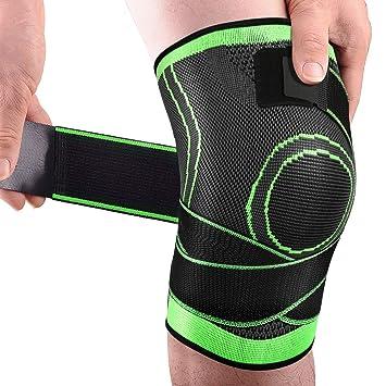 Dolore sotto la protezione del ginocchio dopo la corsa, quando il corpo...