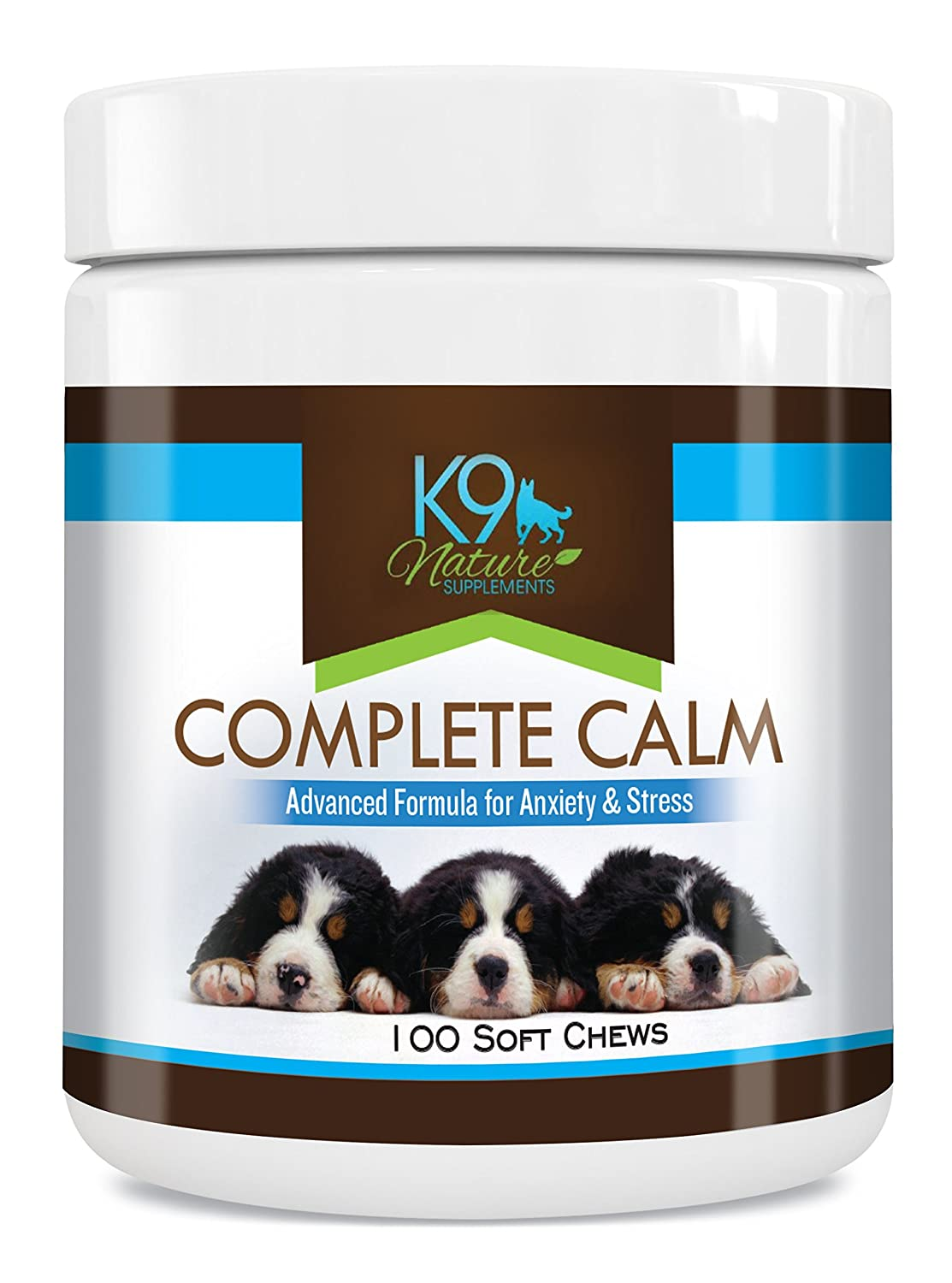 Dog Anxiety Relief Complete Calming Treats for Dogs for Reducing Stress 100 Natural Pet Calm Supplement Soft Chews