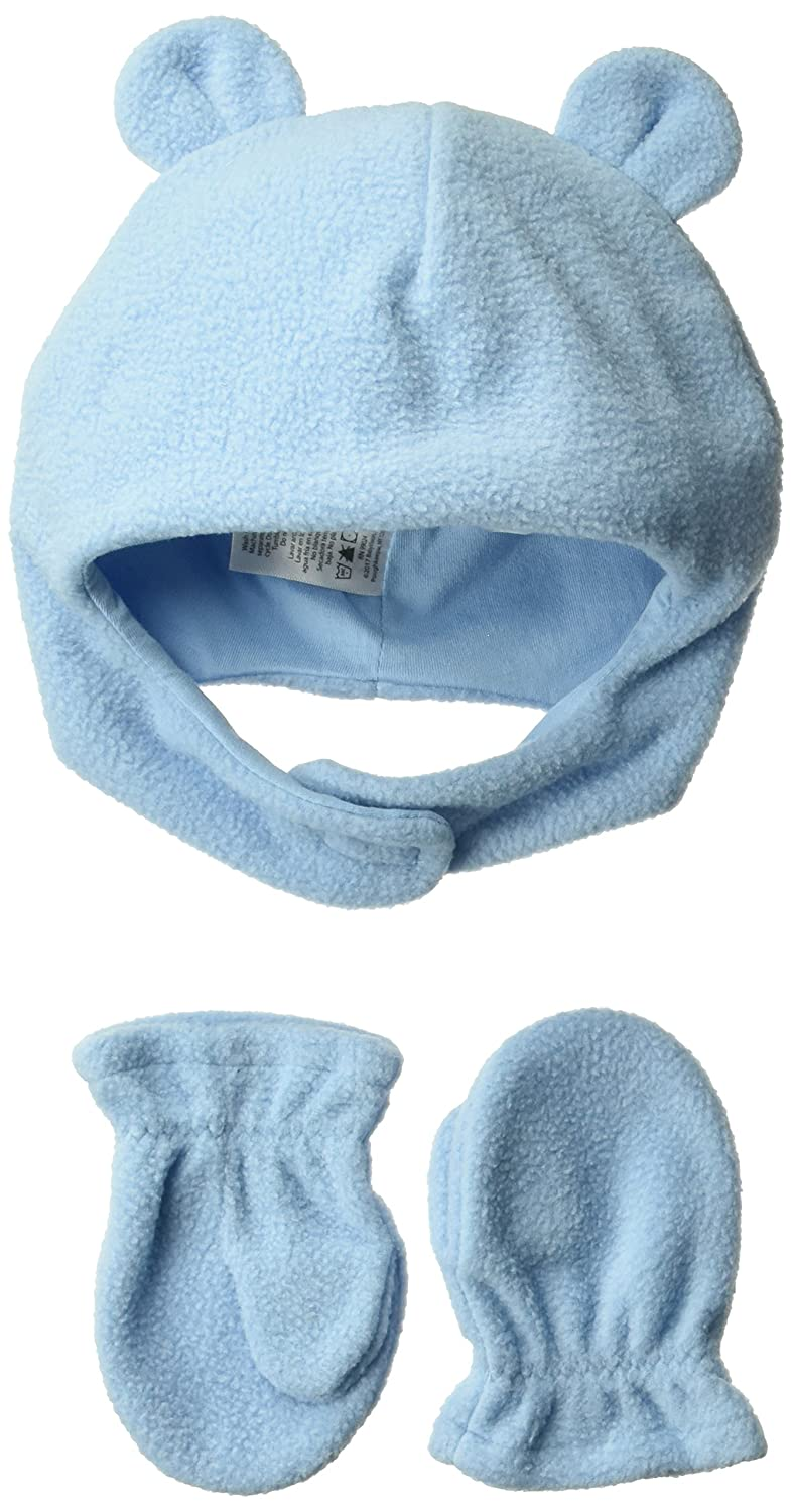 Luvable Friends Unisex-Baby Baby Fleece Bear Hat and Mitten Set 10130974