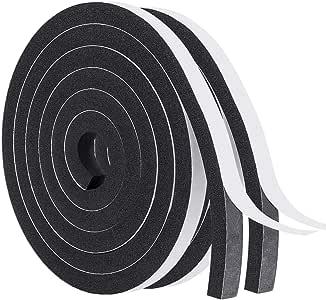 Weather EPDM Stripping Sponge Rubber Seal Strip Tape Door Seal 2 x15mm x 10m