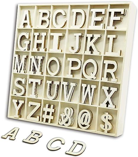 120 piezas de letras de madera con caja de almacenamiento, letras del alfabeto de Scrabble de madera natural suave con niños y estudiantes para manualidades, decoración de bricolaje (letras de madera): Amazon.es: