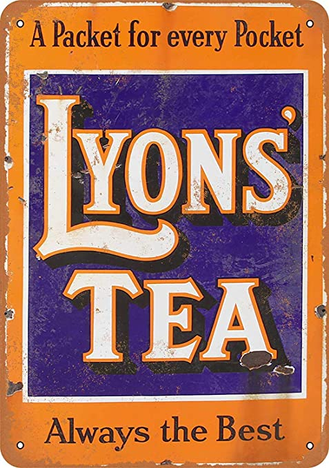 Shunry Lyons Tea Always Placa Cartel Vintage Estaño Signo ...