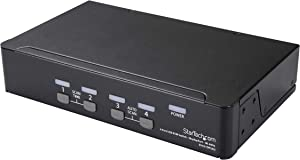 StarTech.com 4 Port DisplayPort KVM Switch - 4K 60Hz - Single Display - Dual Port UHD DP 1.2 USB KVM Switch with Integrated USB 2.0 Hub & Audio - Dell, HP, Apple, Lenovo - TAA Compliant (SV431DPUA2)