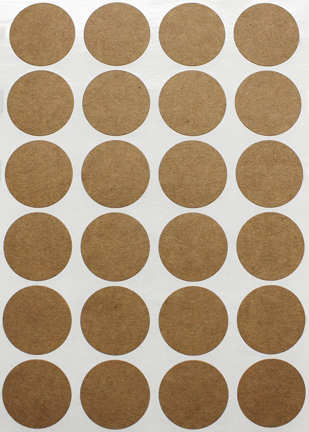 Kraft Paper Coding dot label self-adhesive peel and stick Brown Natural Dot Stickers 1 Inch Round Circle Color Coding Labels Try to Decorate by Your Own