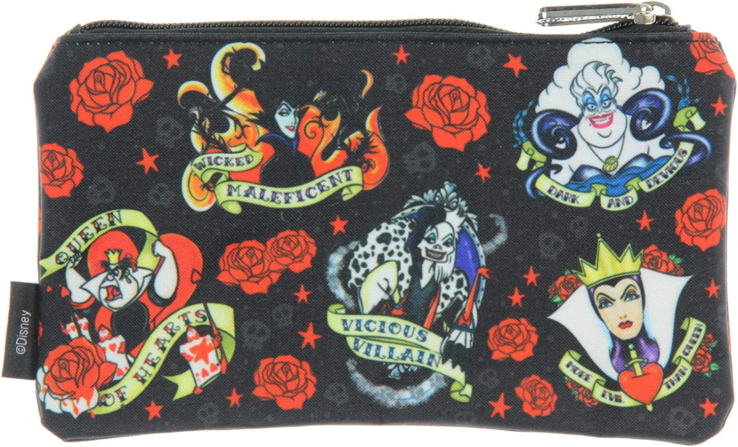 Disney Villain Roses Tattoo Print Faux-Leather PurseLOUNGEFLY BRAND NEW.