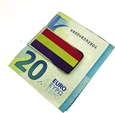Money Clip Pinza de Billetes Bandera de la Segunda República Española: Amazon.es: Ropa y accesorios