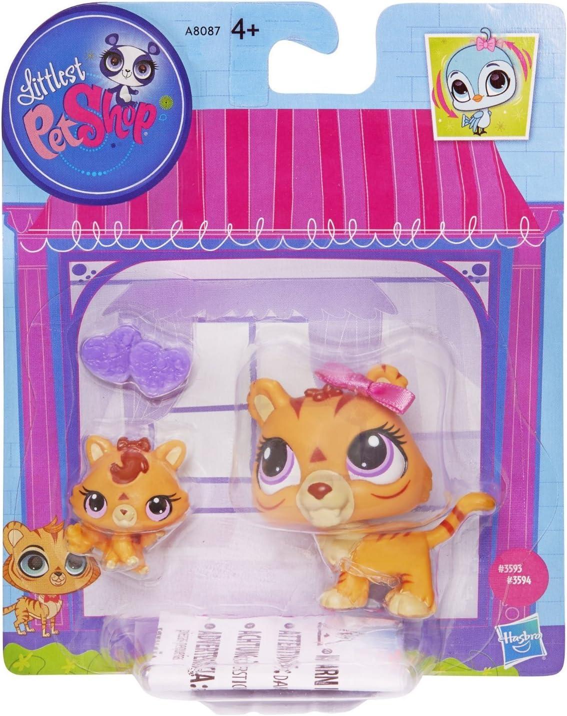Amazon.es: Littlest Pet Shop Figures Orange Tiger & Baby Tiger by ...