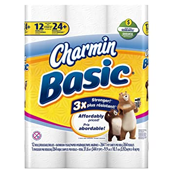 Scintillating Charmin Basic Toilet Paper White 36 Double Rolls ...