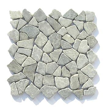 M 010 Marmor Naturstein Badezimmer Fliesen Bruchstein Mosaik Stein Wand  Boden Dekoration