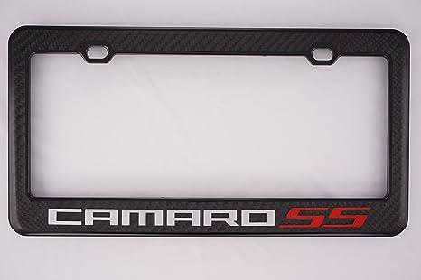 Amazon.com: Chevy Camaro SS Carbon Fiber License Plate Frame: Automotive