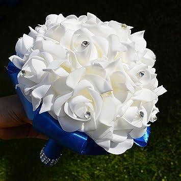 Hochzeit Blumen Rosen Perle Bridesmaid Wedding Bouquet