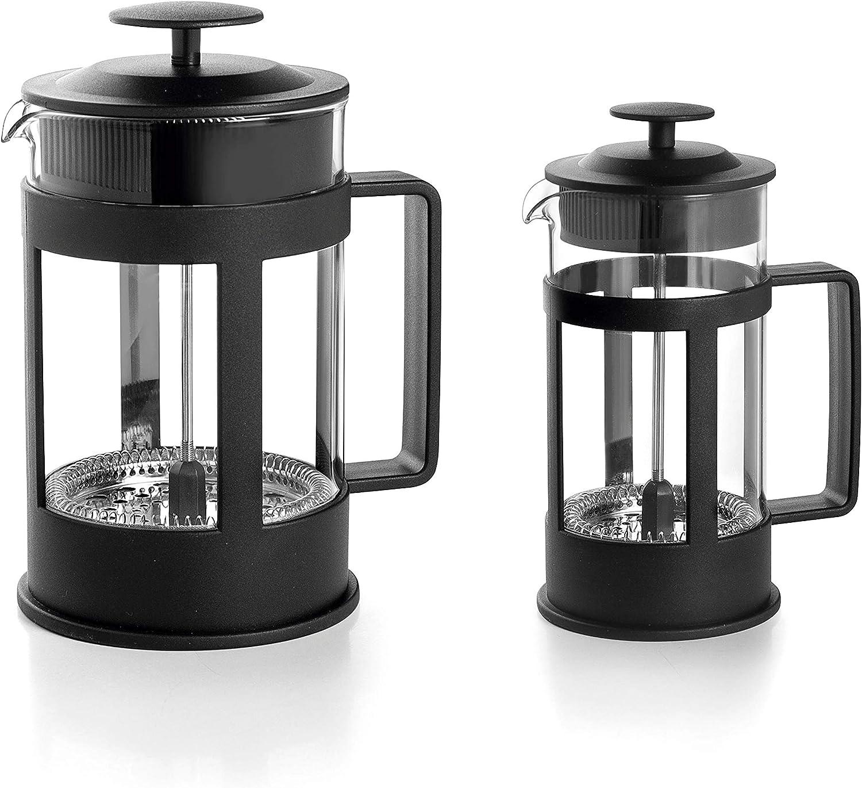 LACOR 62183 Cafetera Francesa Black, 3 tazas, 035 litros, Acero ...