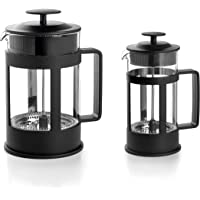 LACOR 62183 Cafetera Francesa Black, 3 Tazas, 0'35 litros, Acero 18/10