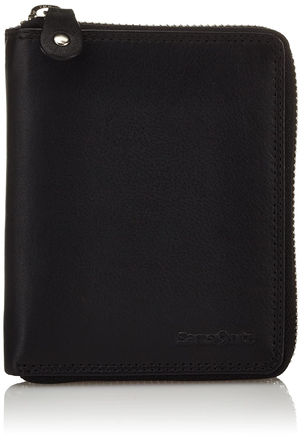 Samsonite Attack SLG Wallet Zip Around M - Monedero de Cuero Hombre