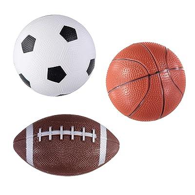 Lollipop 3-Pack Easy Grip Sport Balls: Toys & Games