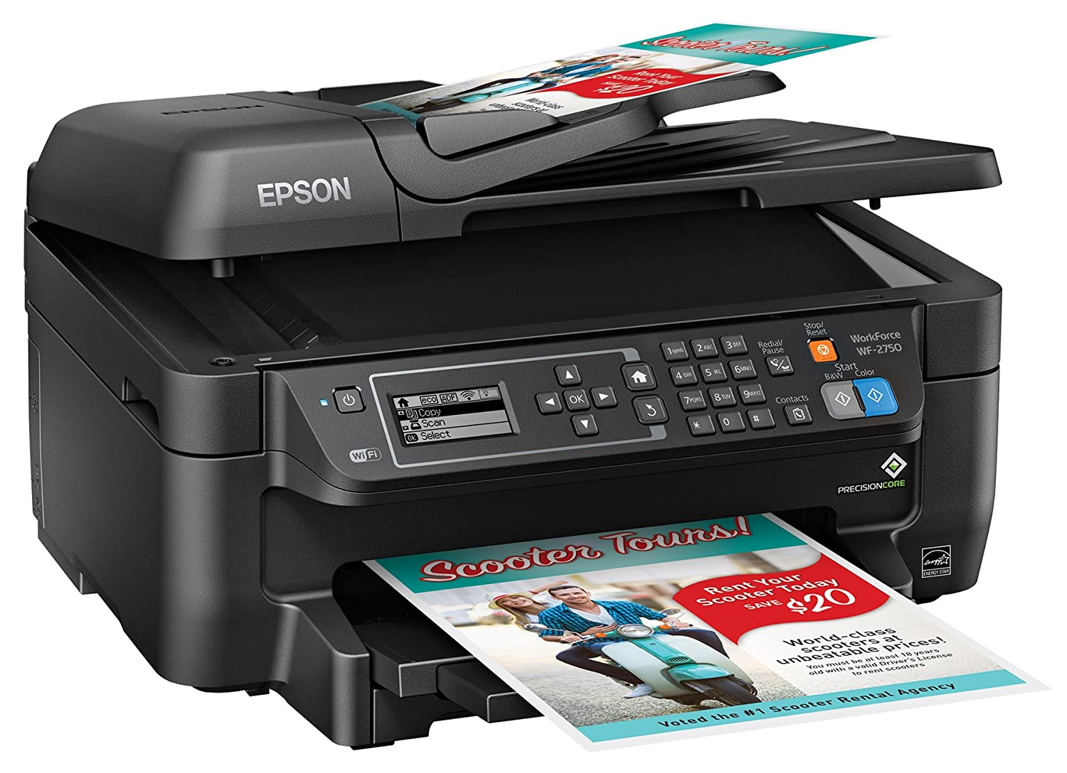 Photo color printer - Amazon Com Epson Wf 2750 All In One Wireless Color Printer With Scanner Copier Fax Electronics