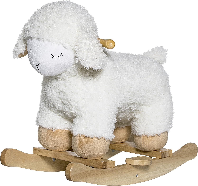 Naturel//Blanc Bloomingville Mouton /à bascule