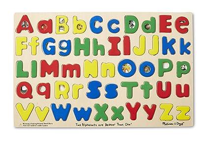 amazon com melissa doug upper lower case alphabet letters