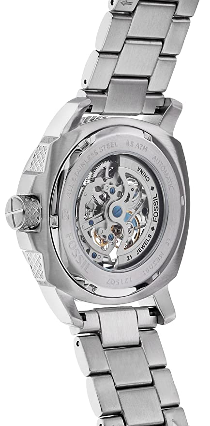 6de9fe812f3 Amazon.com  Fossil Men s ME3081 Modern Machine Automatic Stainless Steel  Watch  Fossil  Watches