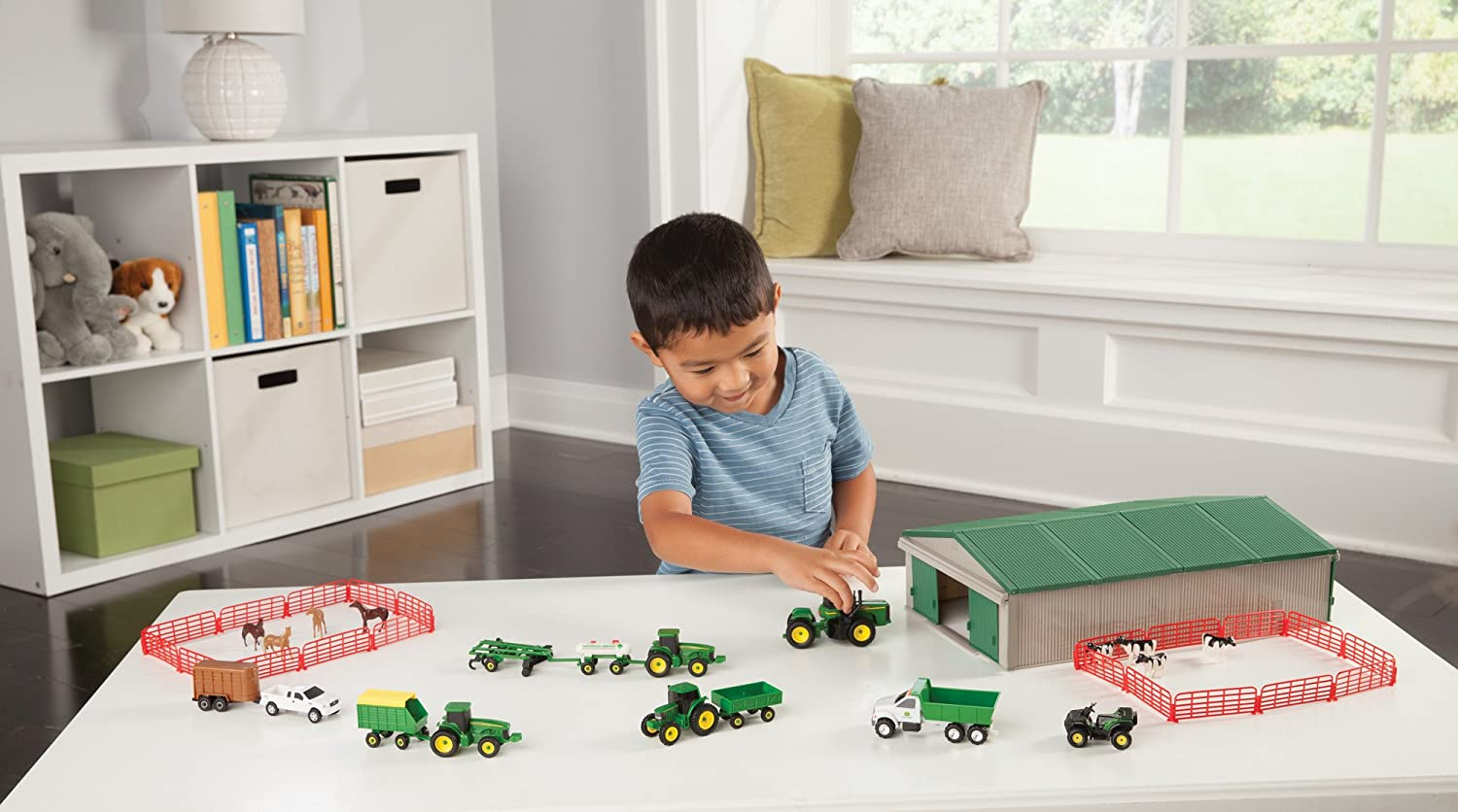 Farm Implement Pieces : John deere value set farm tractor truck fence animals barn