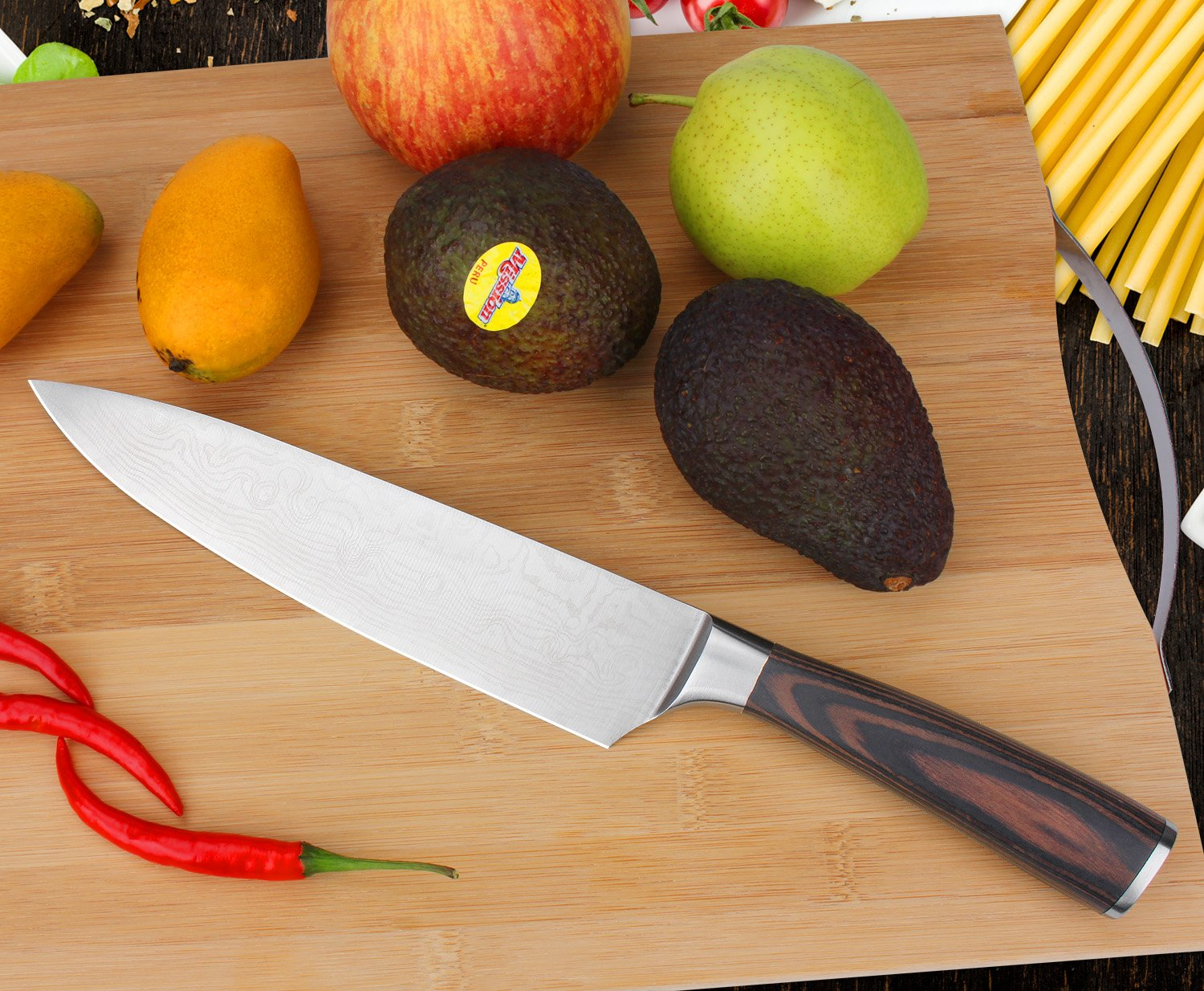 amazon com augymer chef knife 8