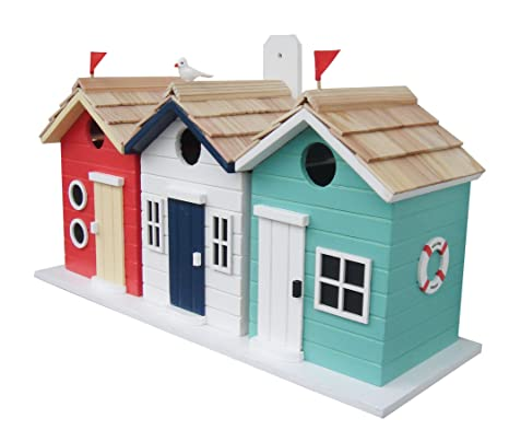 Diseño de caseta de playa casa para pájaros de Buttercup Farm