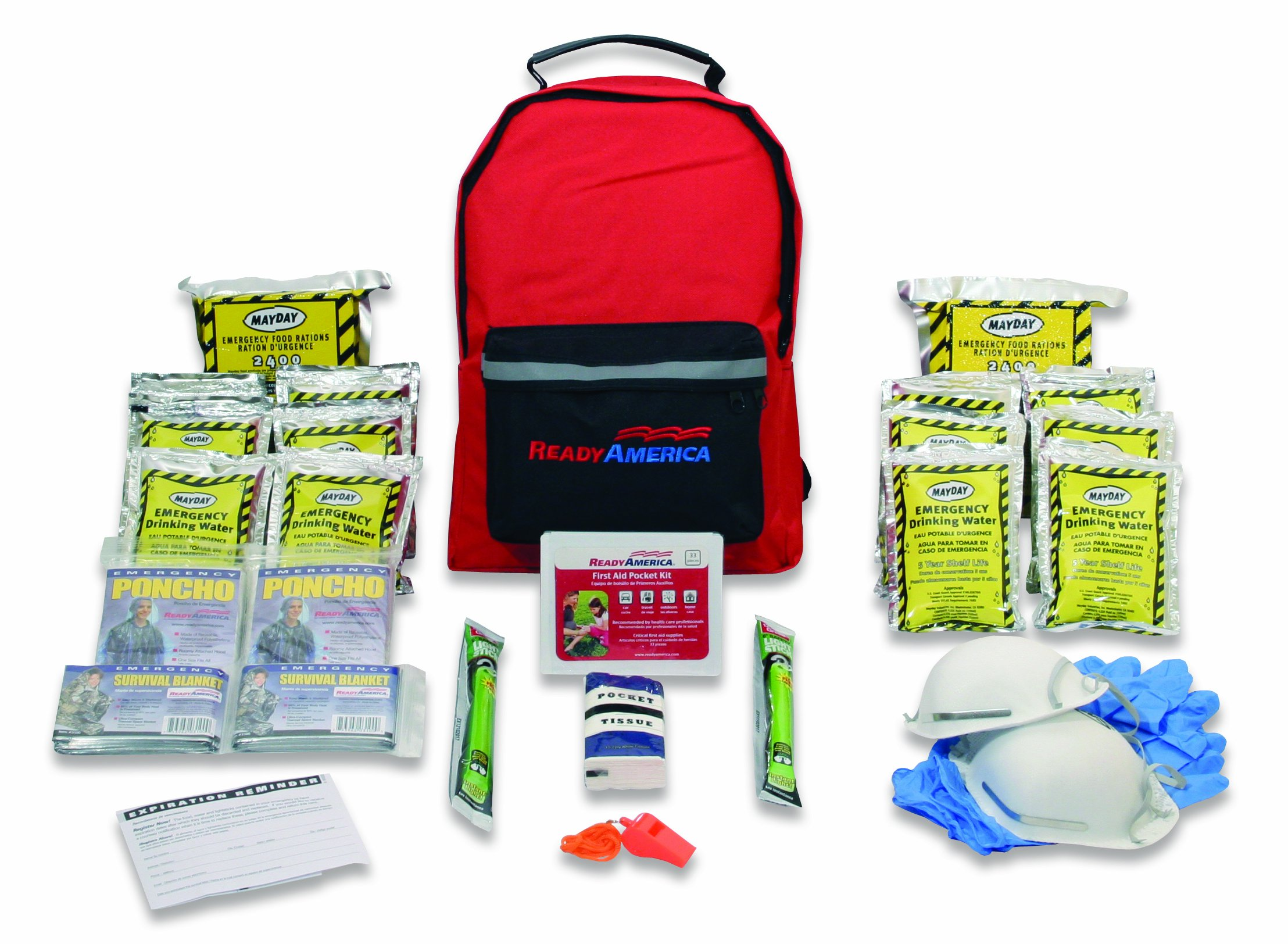 Ready America 70280 Emergency Kit, 2-Person, 3-Day Backpack by Ready America