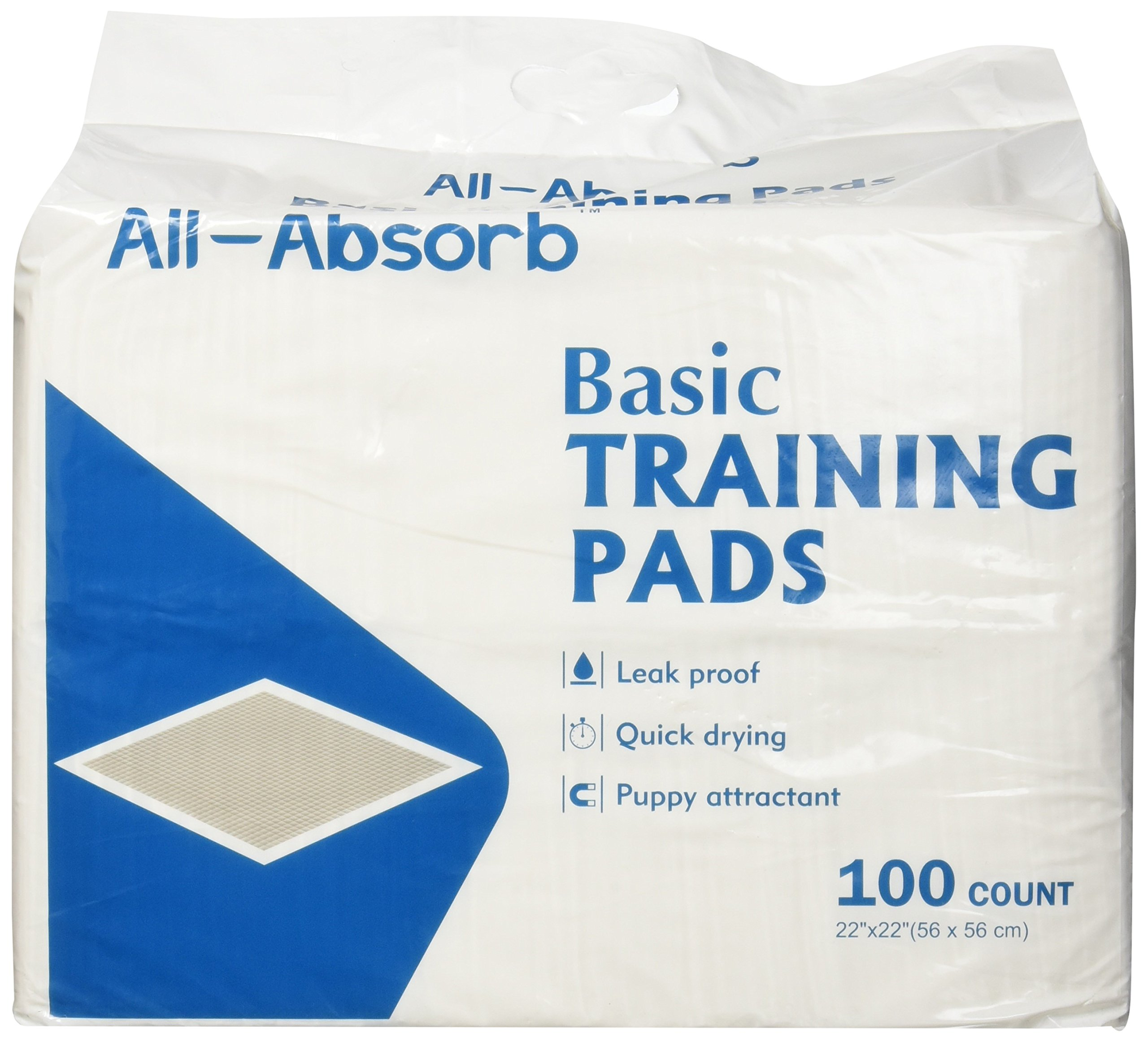 All-Absorb Basic Training Pads, 100Count, 22'' by 22''
