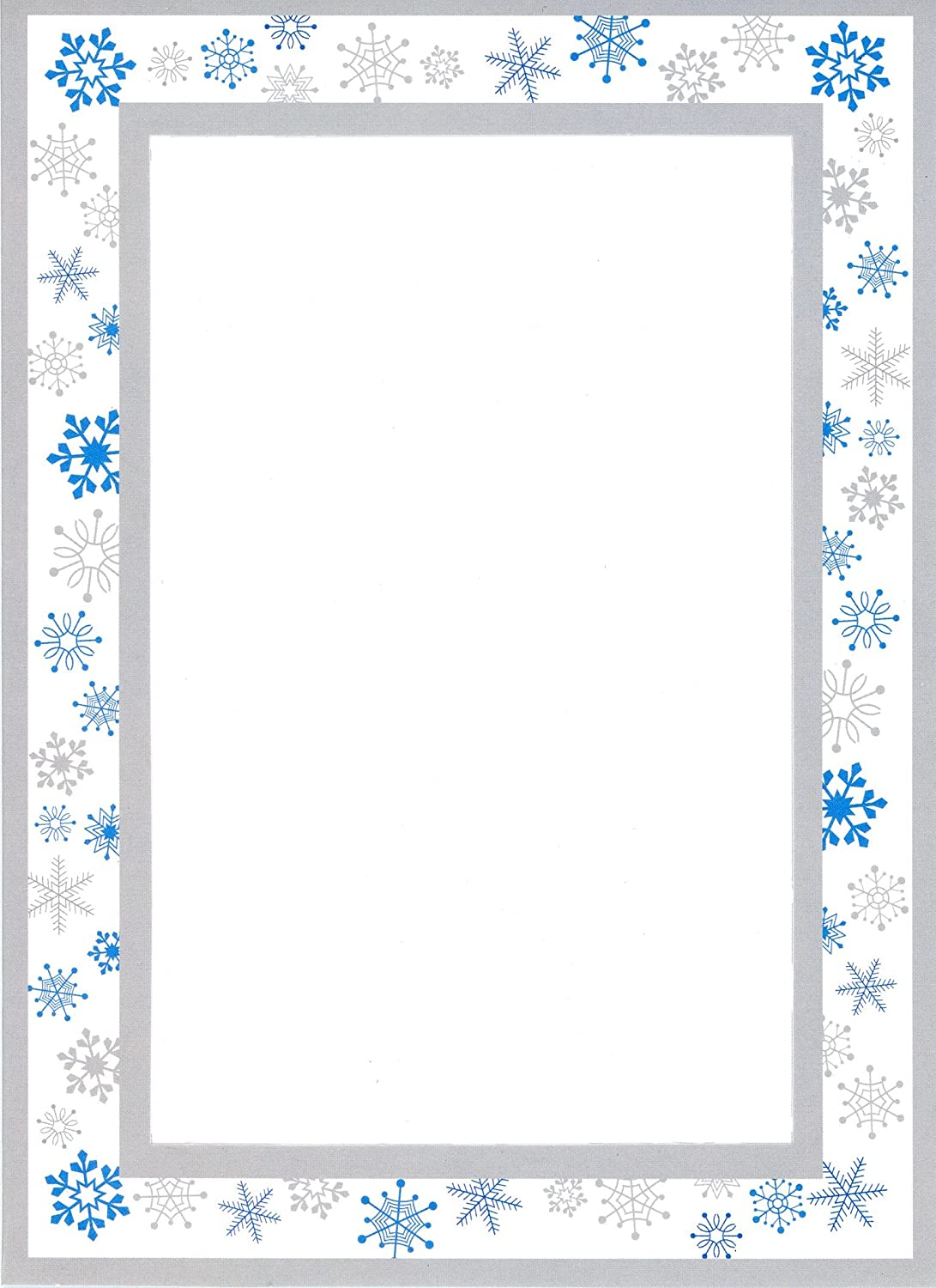 """4 x 6写真挿入ノートカード – 24パックby Plymouthカード 5"""" x 7"""" for a 4"""" x 6"""" print or photo ブルー PARENT-COLLECTIONS B076B1L3MP Snowflakes Snowflakes"""