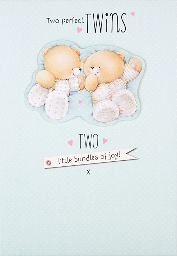 Hallmark Carte Forever Friends naissance de petite-fille carteF/élicitations/ /Medium Carte pour jumeaux//jumelles Two Perfect Twins