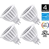 4-Pack of Hyperikon MR16 LED 7-Watt (50-Watt Replacement), 3000K (Soft White Glow), CRI90+, 470lm, Flood Light Bulb, Dimmable, UL-Listed and FCC Approved