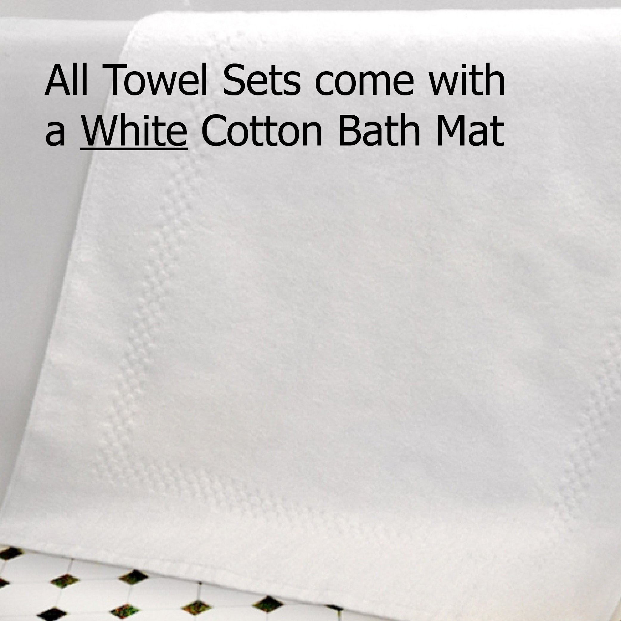 Gilden Tree 100% Natural Cotton Lattice Waffle Weave Bath Towel Set with Bath Mat (Slate) by Gilden Tree (Image #3)