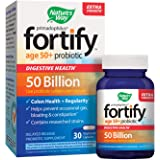 Nature's Way Primadophilus Fortify Age 50+ Probiotic, Digestive Health*, Extra Strength, 50 Billion Active Cultures, Guaranteed Potency, Delayed Release, 30 Vegetarian Capsules, Gluten-Free