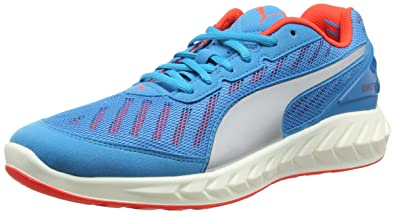 b9b7d34e1 Puma Men s Ignite Ultimate Atomic Blue and Red Blast Running Shoes - 10  UK India