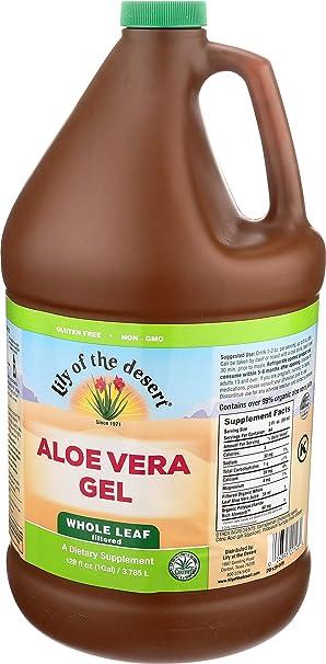 Amazon.com: Lily de todo el desierto Aloe Vera Gel LEAF, 128 ...