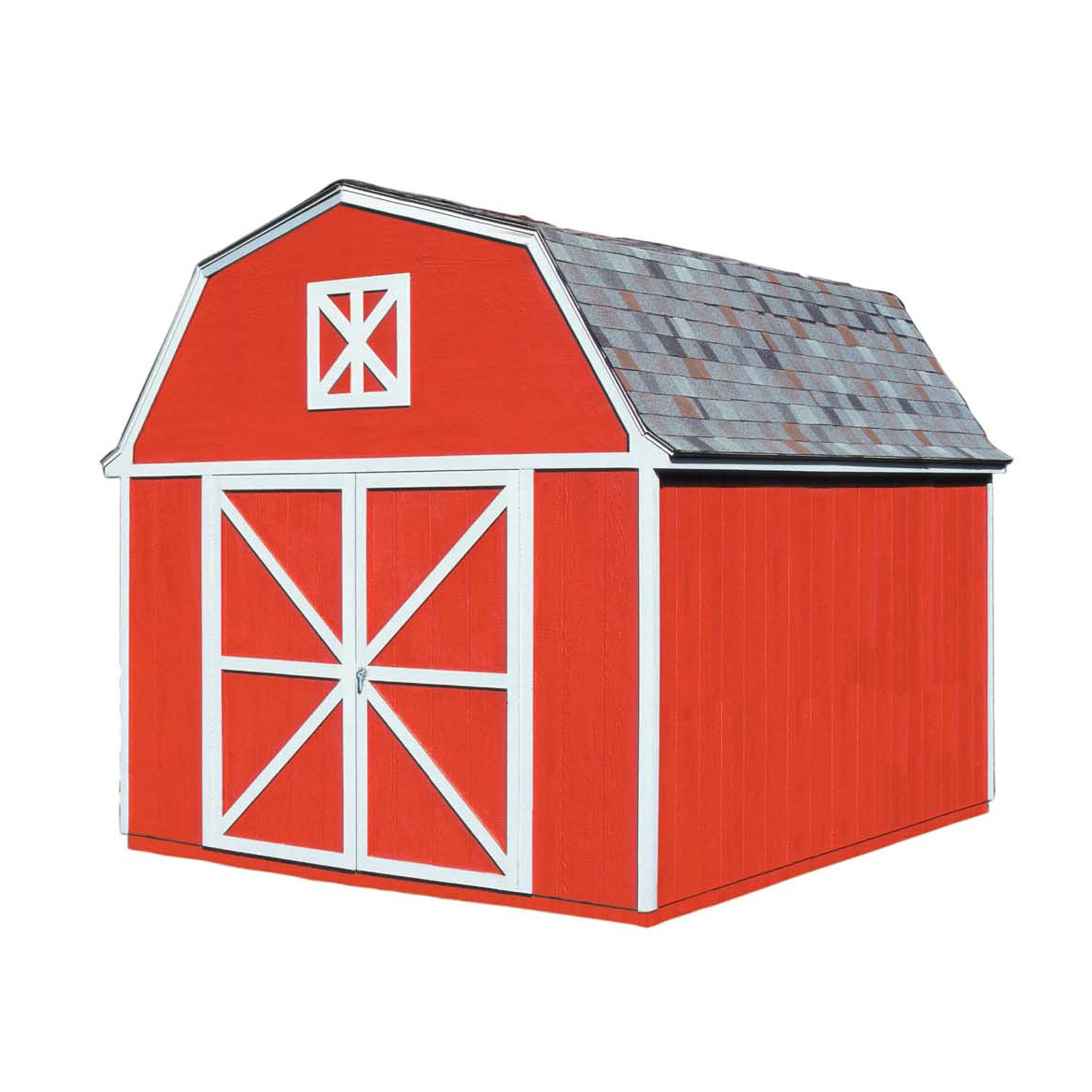 Handy Home Products Berkley Wooden Storage Shed, 10 by 12-Feet by Handy Home Products