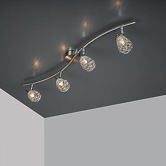 Plafonnier Mila orientable avec 4 x28 W Ampoule 230 V G9 spot LED