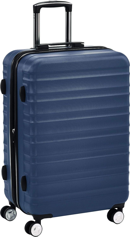 AmazonBasics - Maleta rígida giratoria prémium de 68 cm, azul marino