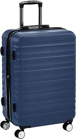 AmazonBasics Hardside Spinner With TSA Lock - 24-Inch, Navy Blue