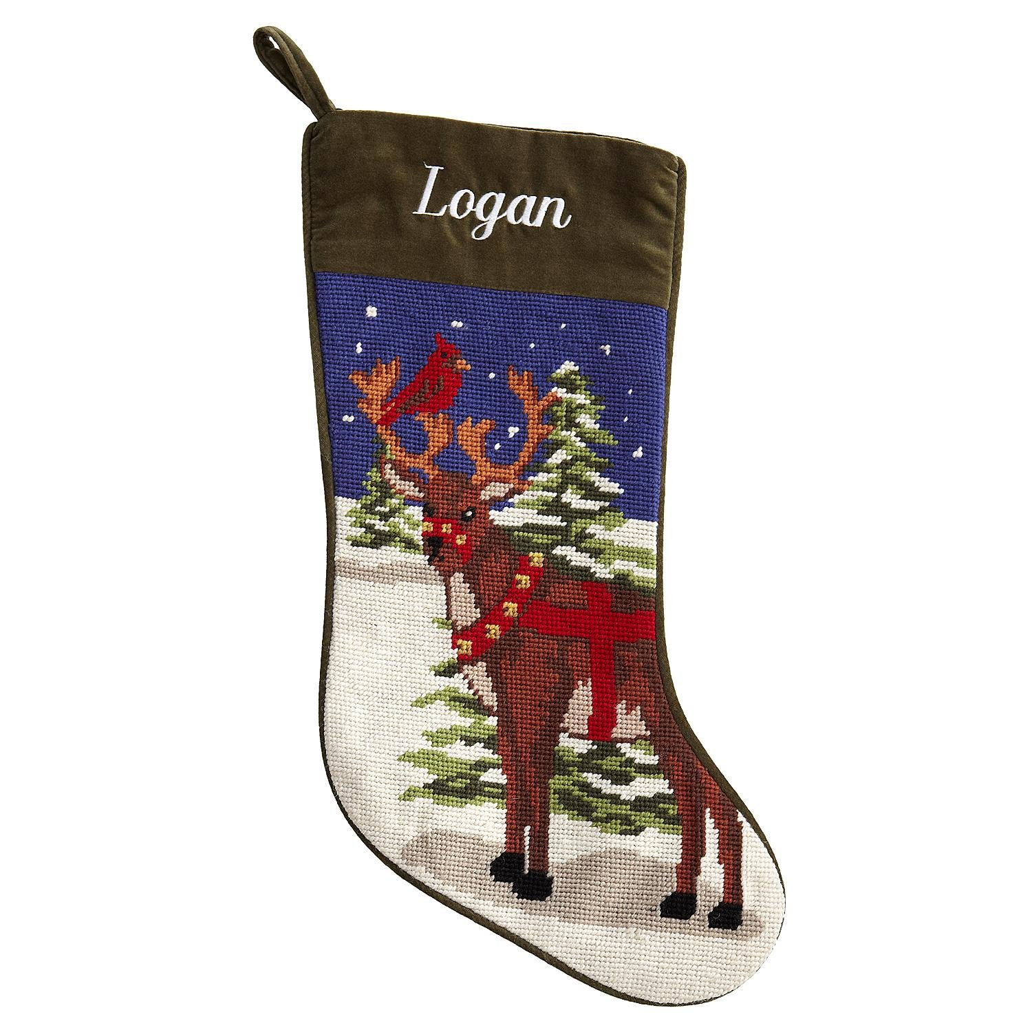 Christmas Reindeer Needlepoint Stockings