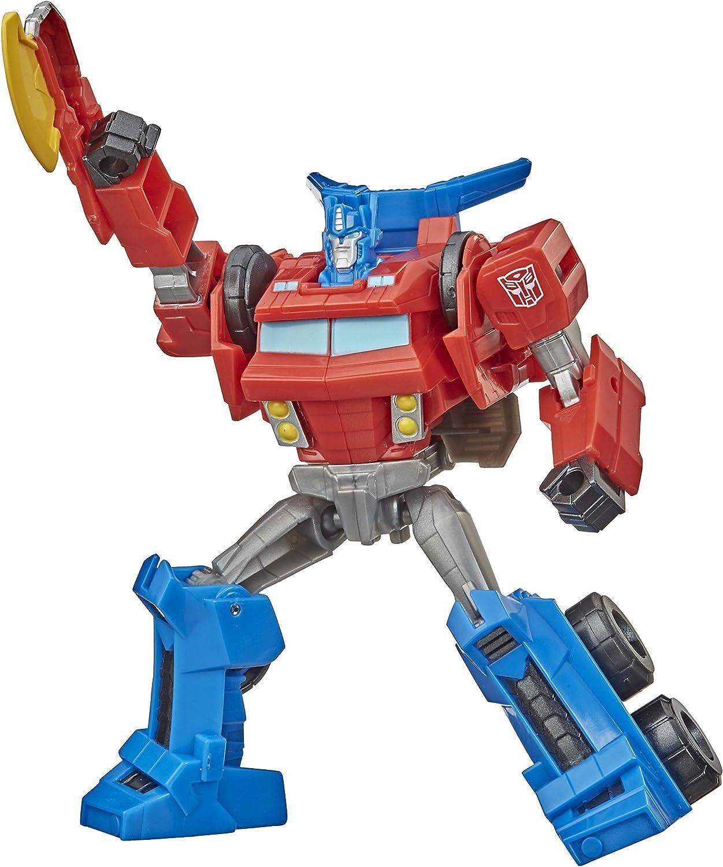 Transformers Bumblebee Cyberverse Adventures Warrior Class Optimus Prime Figura de acción Juguete de Ataque repetible, a Partir de 6 años, 5.4 Pulgadas