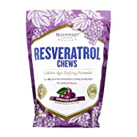 Reserveage, Resveratrol Chews, Anti Wrinkle Support to Protect Against the Aging...