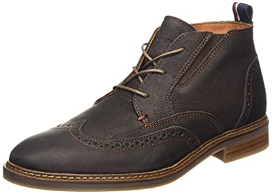 a9cb3a8f9dda Tommy Hilfiger Men s Howard 2N Cold Lined Chukka Boots Short Length Brown  Size  9