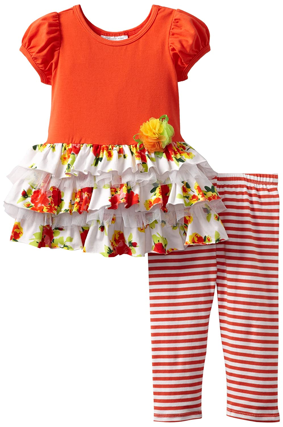 Bonnie Jean Little Girls' Mesh Tiered Legging Set