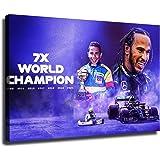 Lewis Hamilton-F1 BRITISH conducteur Sport Large Wall Art encadrée Toile Photos