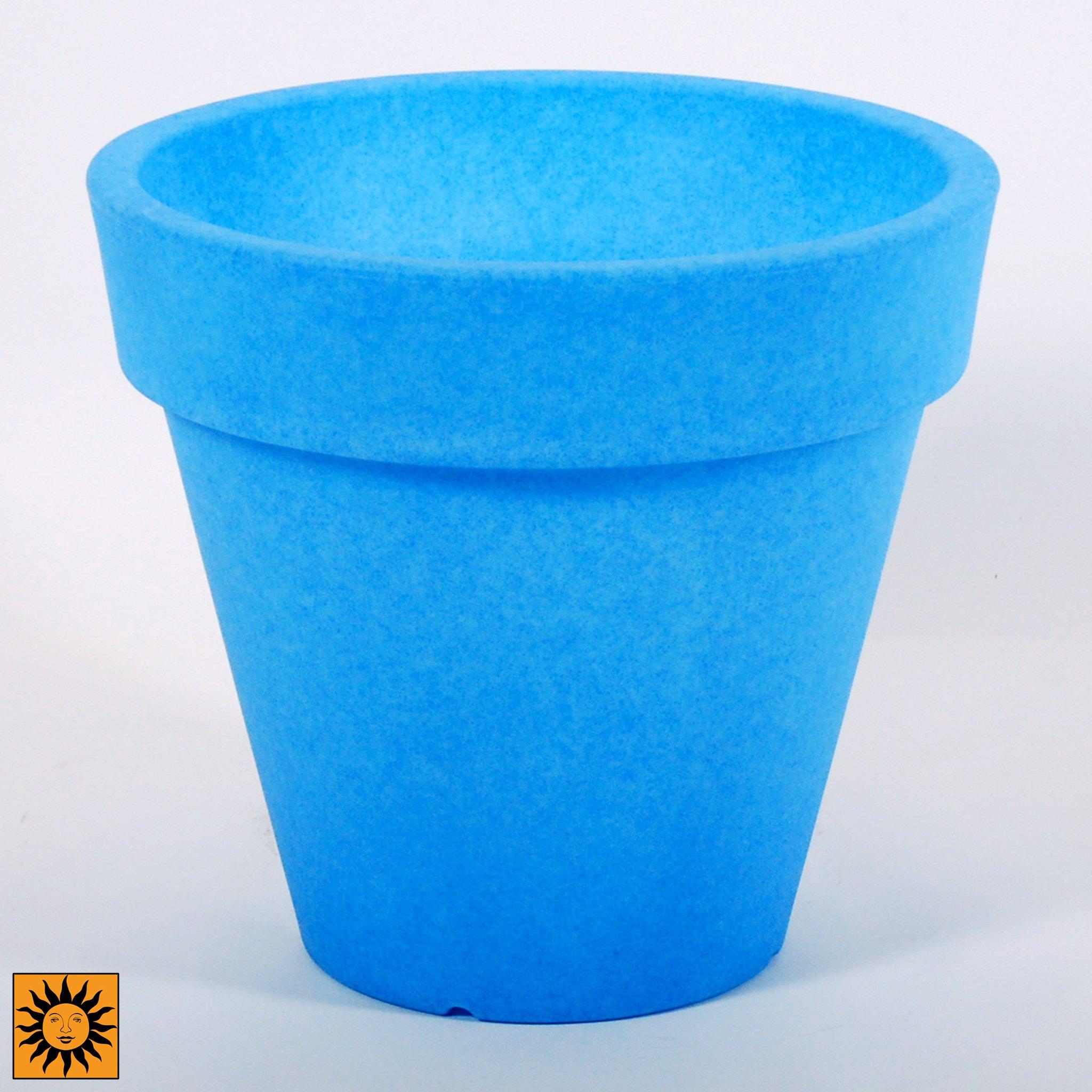 Design Toscano CF4101 Terme Flower Cachepot Glow in The Dark Planter Urn, 15.5'', Blue