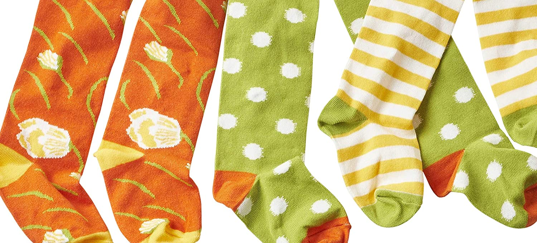 WELLYOU Collant per beb/è e bambini set per ragazze verde//bianco a pois e fiori taglia 62-146