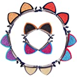 Mudder Cat Ear Hairpins Hair Barrettes Clips for Girl, 7 Pairs