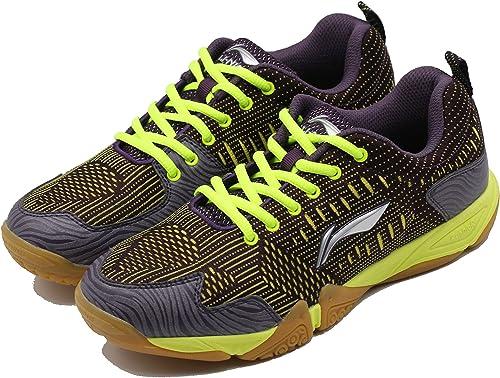 Li-Ning AYTM131-2 - Zapatillas de bádminton para Hombre Morado Morado, Color Morado, Talla 43 EU: Amazon.es: Zapatos y complementos